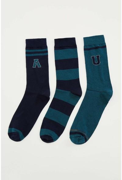 Defacto Erkek 3'lü Çorap Seti