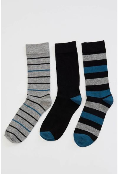 Defacto Erkek 3'lü Uzun Çorap