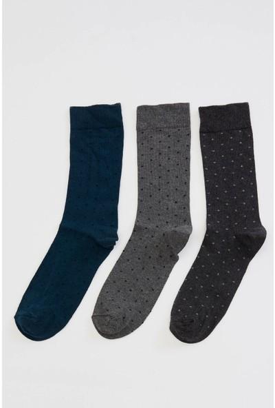 Defacto Erkek Desenli Uzun Çorap