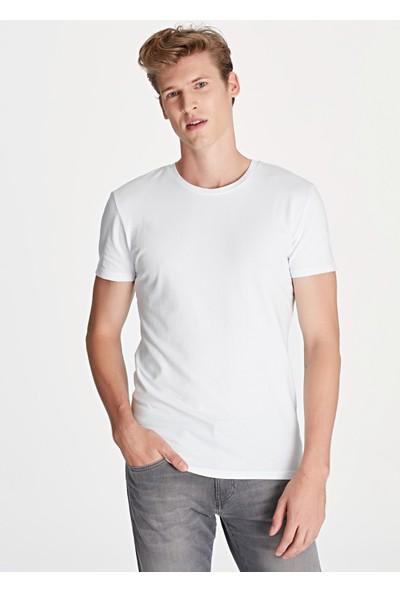 Mavi Beyaz Basic Tişört 061747-620