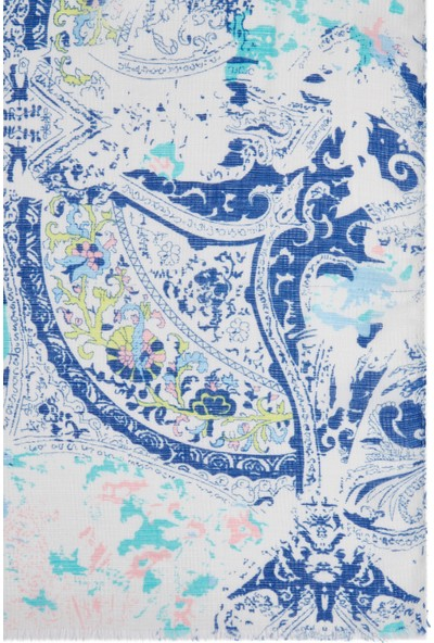 Desenli Mavi Şal 195307-620
