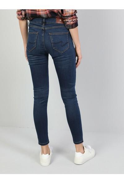 Colin's 759 Lara Süper Dar Kesim Koyu Mavi Kadın Denim Pantolon