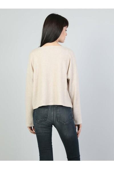 Colin's Bej Kadın Uzun Kollu T-Shirt