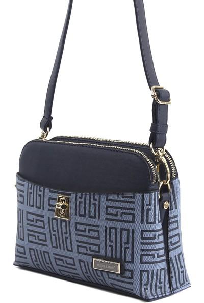 Silver & Polo Kadın Moda Çanta 623-31359 Çapraz Kadın Çantası M11 Mavi-Mat Laci
