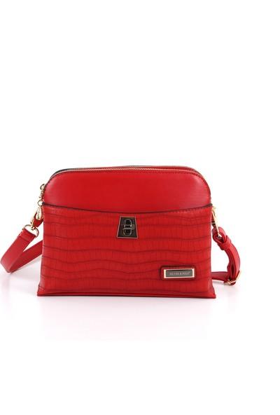 Silver & Polo Kadın Moda Çanta 623-31978 Çapraz Kadın Çantası M128 Kırmızı-Slavıa Kırmızı
