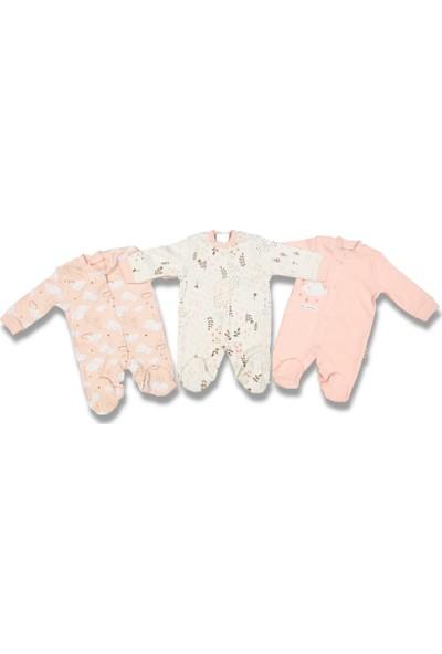 Necixs Baby Ay Bulut Yıldız Çiçek Tavşan 3 Adet Tulum