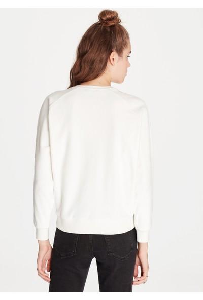 Mavi Kadın Dantelli Sweatshirt