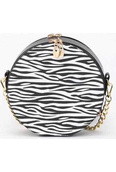 Depoms Kadın Çapraz Çanta Zebra 5014-ZB