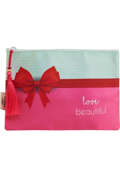 Sihirli Semboller Love Beautiful Sembollü Makyaj Çantası - Sihirli Semboller