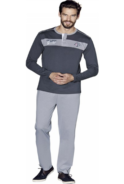 Güryıldız Erkek Yeni Sezon Uzun Kol Pijama Takımı 5370