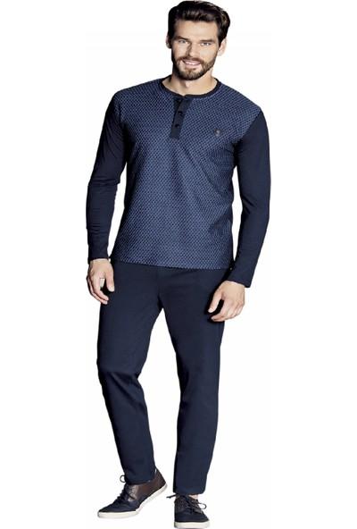 Güryıldız Erkek Yeni Uzun Kol Pijama Takımı 5377