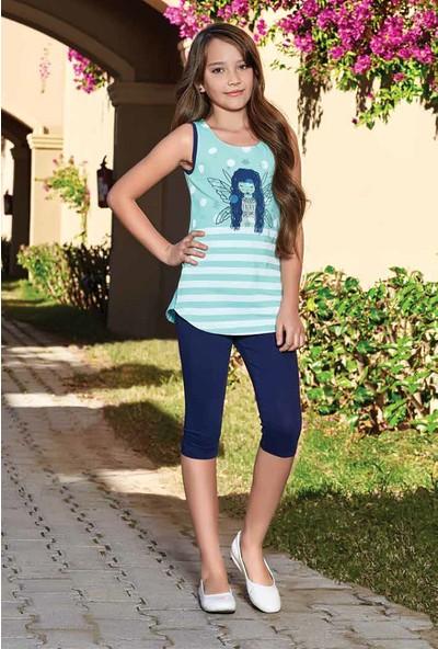 Güryıldız Kız Çocuk Kısa Kollu Pijama Takımı 6065