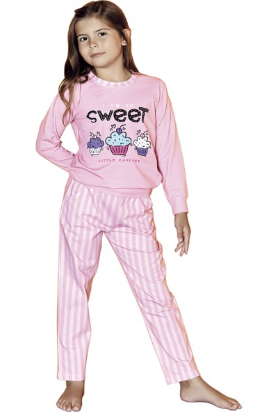 Güryıldız Kız Çocuk Yeni Sezon Kapüşonlu Uzun Kol Pijama Takımı 6211
