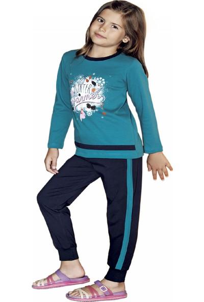 Güryıldız Kız Çocuk Yeni Sezon Uzun Kol Pijama Takımı 6204
