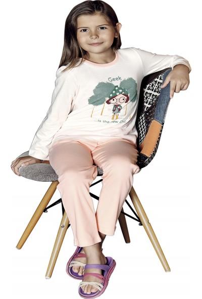Güryıldız Kız Çocuk Yeni Sezon Uzun Kol Pijama Takımı 6207