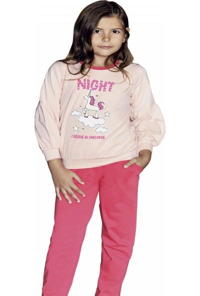 Güryıldız Kız Çocuk Yeni Sezon Uzun Kol Pijama Takımı 6208