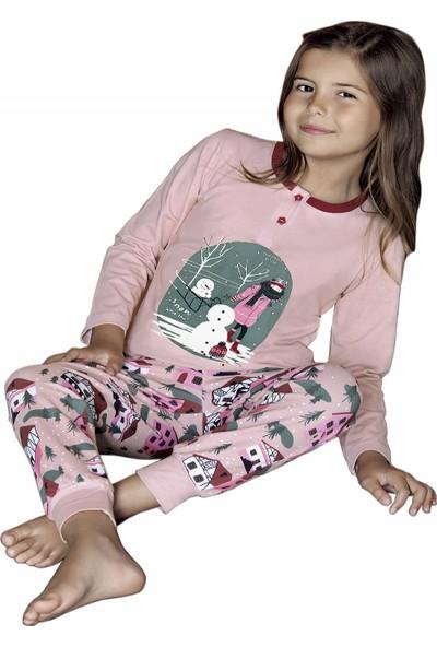 Güryıldız Kız Çocuk Yeni Sezon Uzun Kol Pijama Takımı 6210