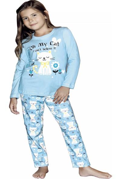 Güryıldız Kız Çocuk Yeni Sezon Uzun Kol Pijama Takımı 6213