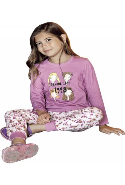 Güryıldız Kız Çocuk Yeni Sezon Uzun Kol Pijama Takımı 6215