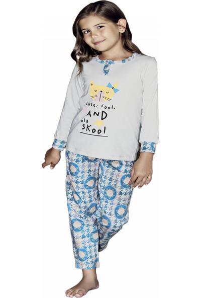 Güryıldız Kız Çocuk Yeni Sezon Uzun Kol Pijama Takımı 6217