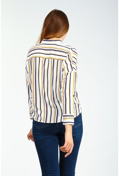 Collezione Kadın Uzun Kol Gömlek Vısol