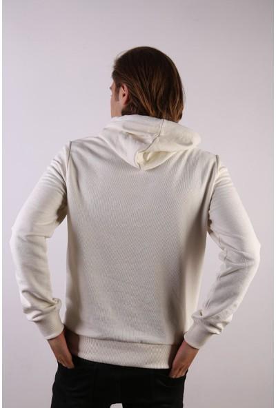 Densmood Yazılı Kapüşonlu Polar Sweatshirt