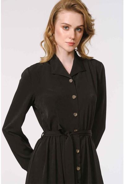 Mizalle Kadın Soft Clean Patlı Elbise