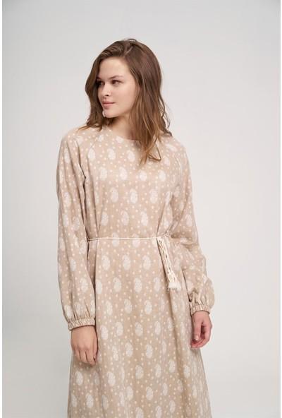 Mizalle Youth Kadın Desenli Pamuk Elbise