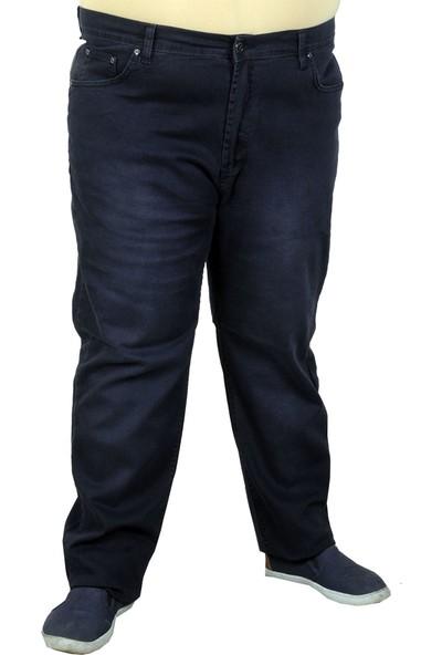 Mode XL Erkek Pantolon Gabardin Işlemli Nakışlı 19730 Lacivert