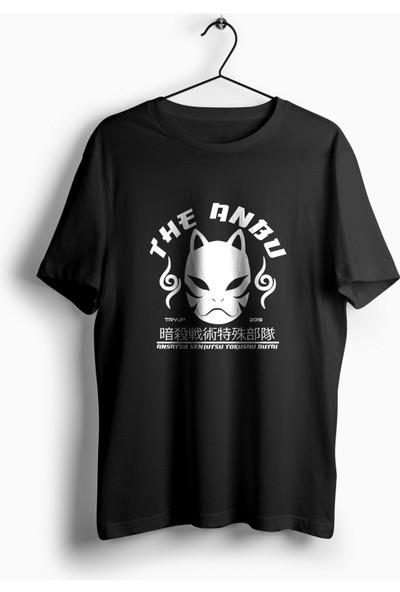 Anime Pazarı Naruto Anbu Maskesi Siyah Unisex Anime T-shirt