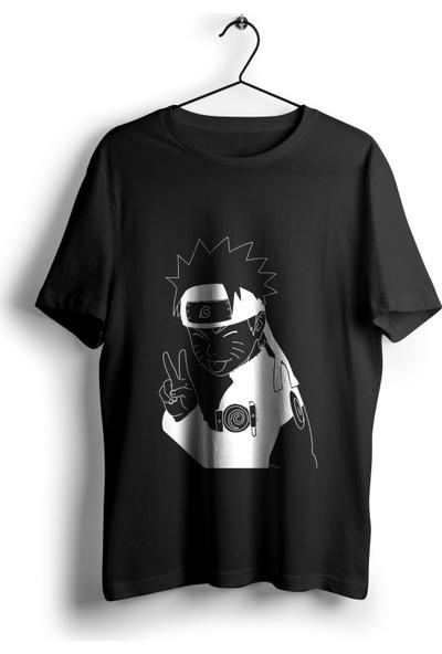 Anime Pazarı Uzumaki Naruto Siyah Unisex Anime T-shirt