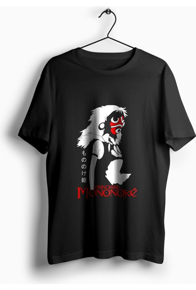 Anime Pazarı Prenses Mononoke Anime Filmi Unisex Anime T-shirt