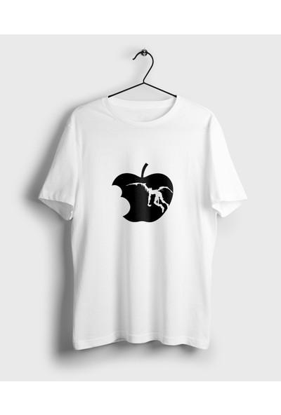 Anime Pazarı Ryuk Ve Elma Death Note Beyaz Unisex Anime T-shirt