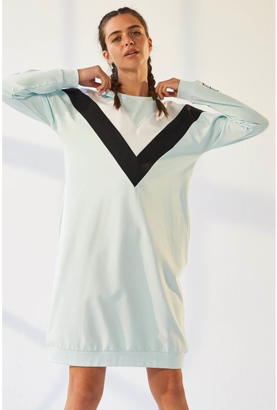 Tommy Life Ön Garnili Açık Mavi Kadın Spor Elbise