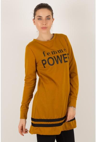 Morpile Kadın Power Baskılı Tunik
