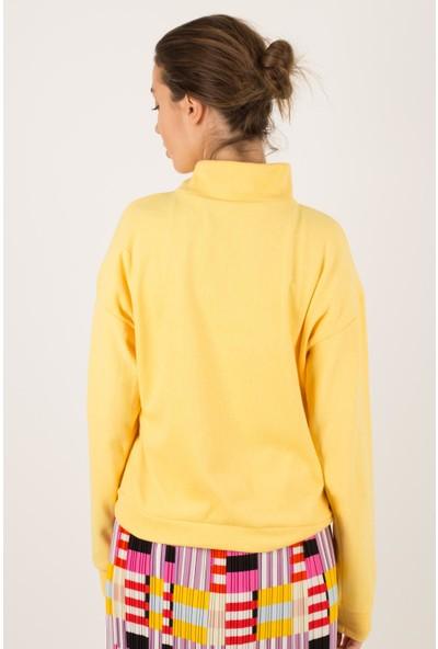 Morpile Kadın Yarım Fermuarlı Sweatshirt
