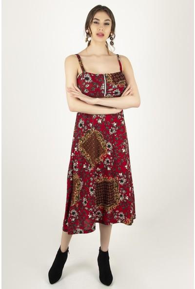 Morpile Kadın Askılı Elbise