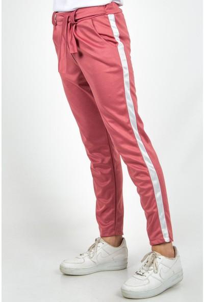 Morpile Kadın Şeritli Kemerli Pantolon