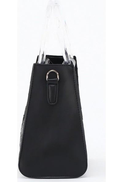 Depoms Kadın Çapraz Askılı El Çantası Siyah 5004-S