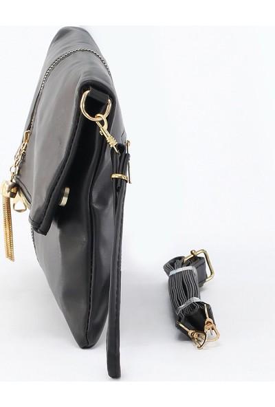 Depoms Kadın Çapraz Çanta Siyah 5015-S