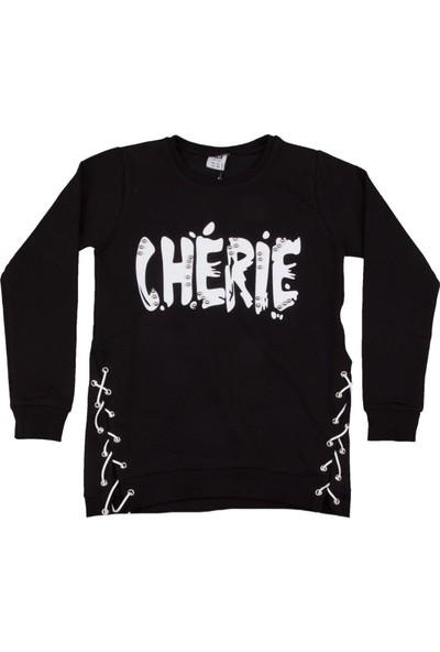 Voi Cherie Boncuklu Sweatshirt Siyah