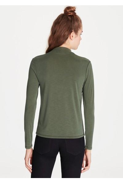 Mavi Kadın Uzun Kollu Yeşil Sweatshirt
