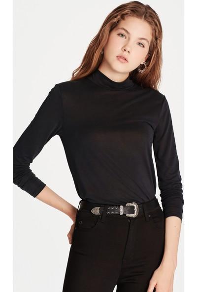 Mavi Kadın Uzun Kollu Siyah Sweatshirt