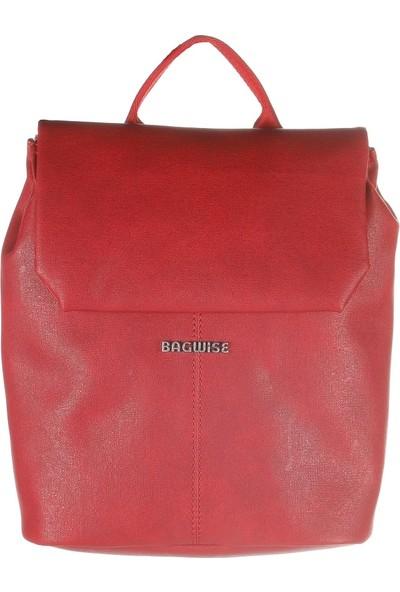 Bagwise 9006 Pu Suni Deri Orta Boy Sırt Çantası