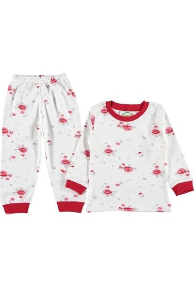 Kidsmadamiko Kız Çocuk Çiçekli Pijama Takım 12487514