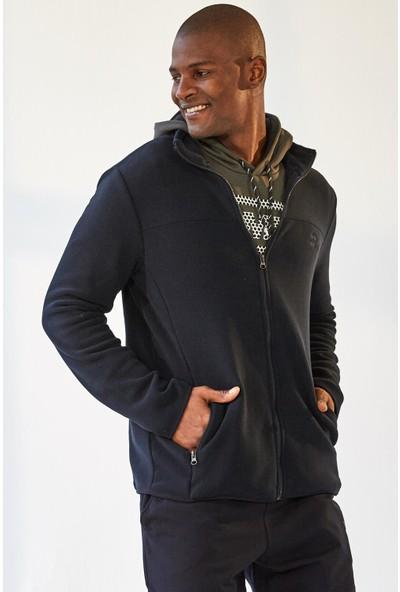 Tommy Life Yakalı Polar Lacivert Erkek Sweatshirt