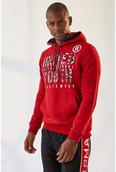 Tommy Life United Youth Baskılı Kırmızı Erkek Sweatshirt