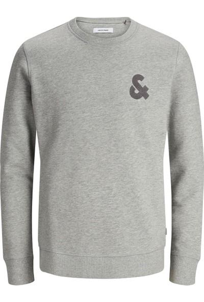 Jack & Jones 12155398 Erkek Sweat Crew Neck Jjechest Logo Sweat Crew Neck Noos Sweat Shirt