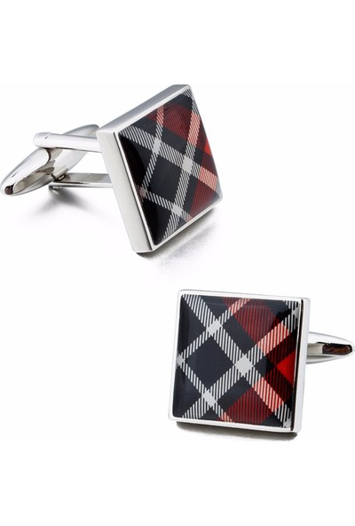 Omark Cotton Red Scottish Kol Düğmesi