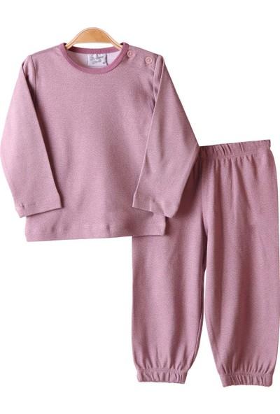 Breeze Kız Çocuk Pijama Takımı Gülkurusu 1-4 Yaş